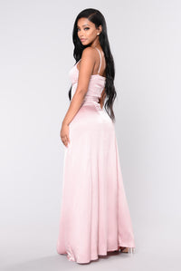 Put Some Spotlight Satin Dress - Pink