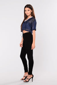 For The Win Crop Top - Navy