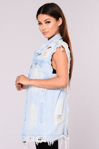 Trying For You Vest - Light Blue