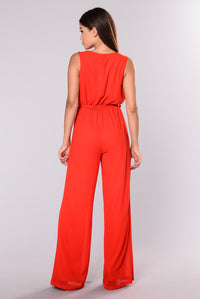 Hera Jumpsuit - Red