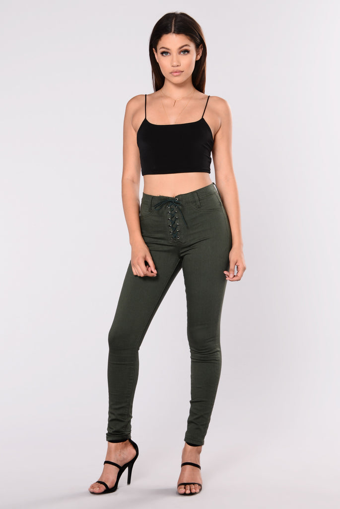 Just A Taste Jeans - Olive