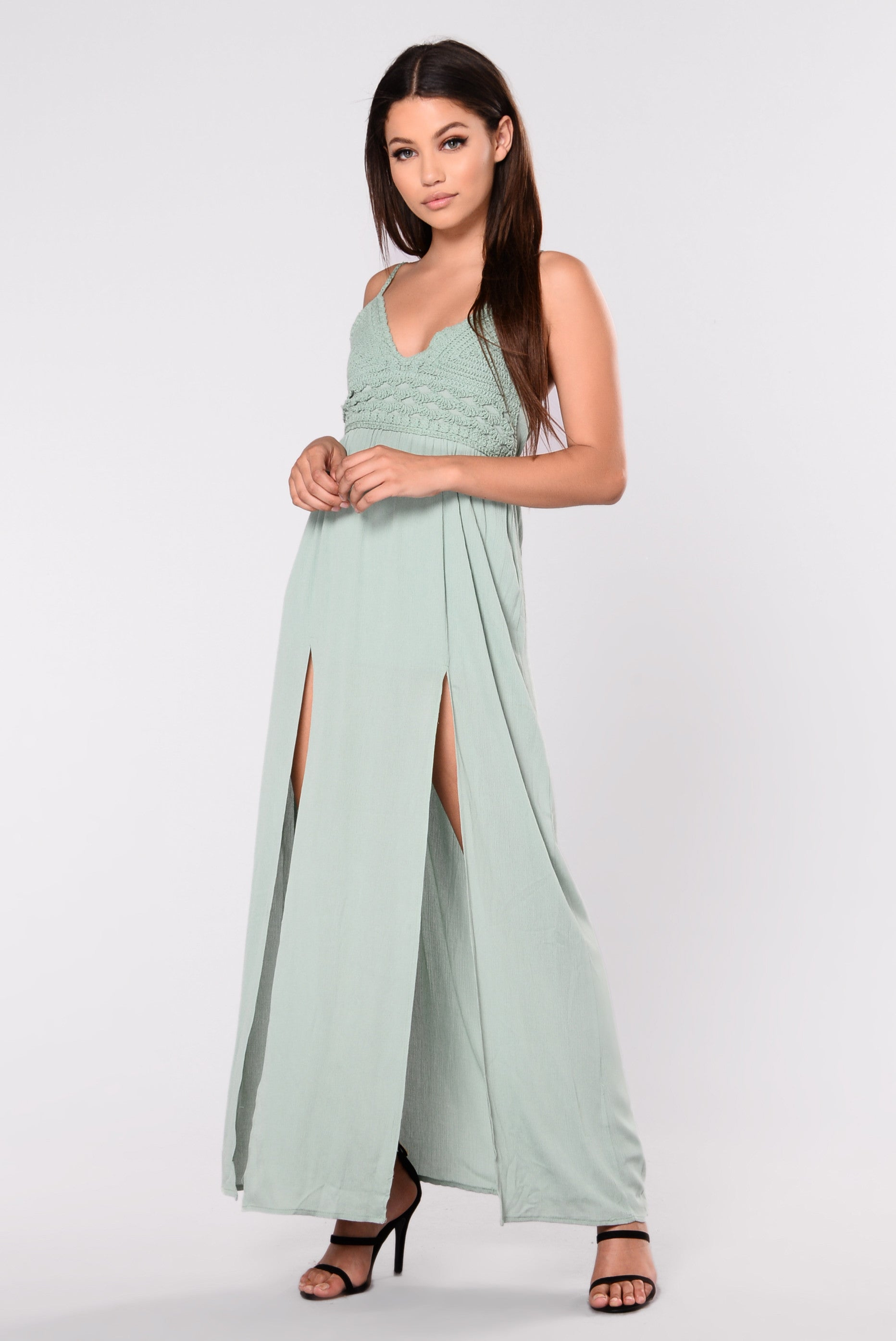 Flamenco Maxi Dress Olive