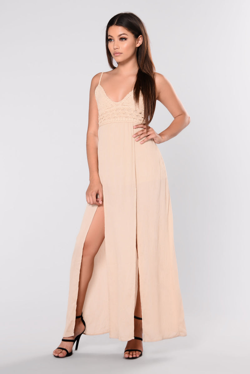 Flamenco Maxi Dress - Natural