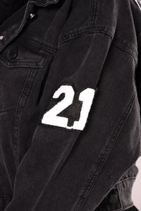 Know Your Roots Denim Jacket - Black