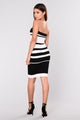 Winnie Striped Dress - Black/White