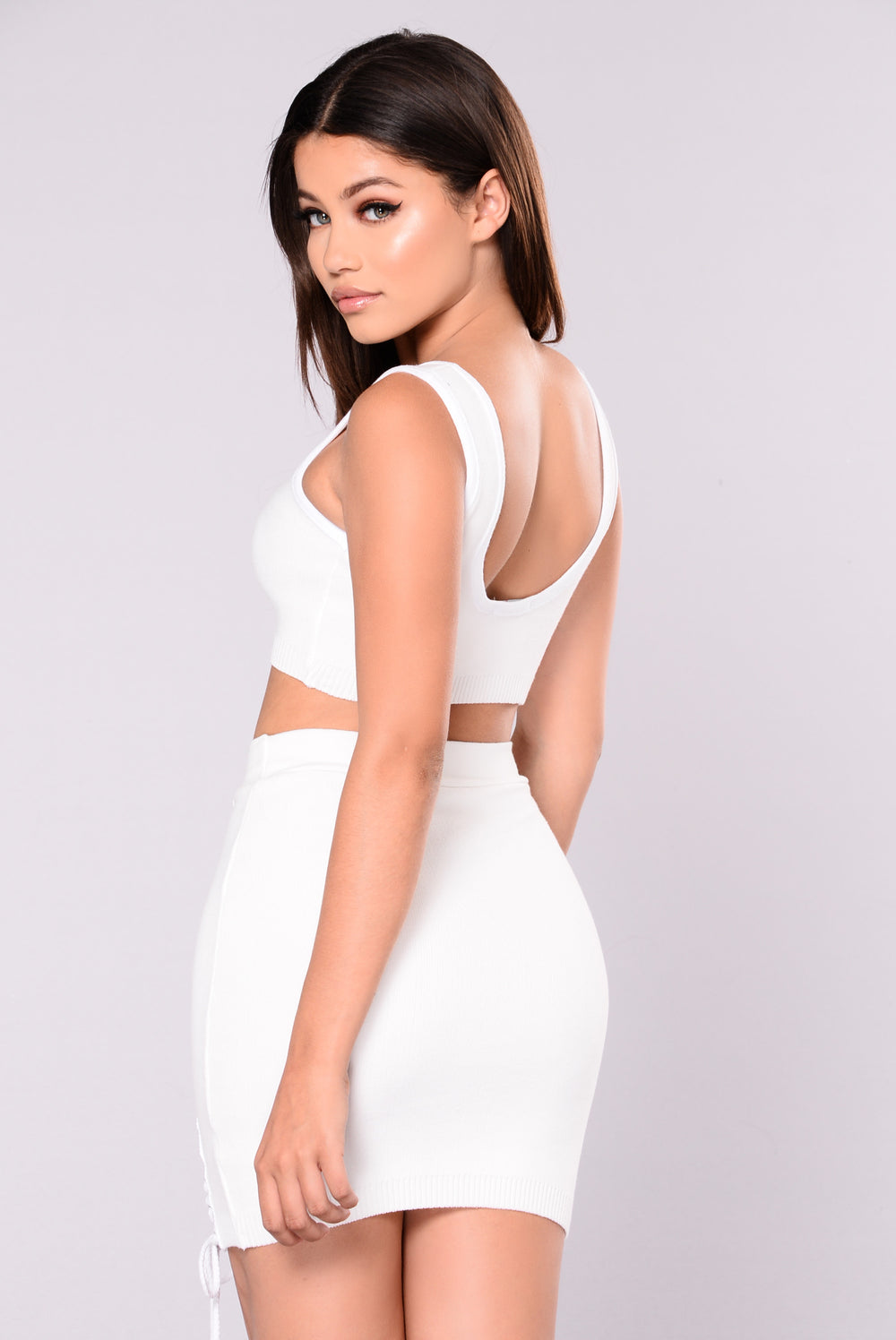 Zana Crop Top - White