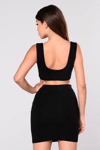 Zana Crop Top - Black