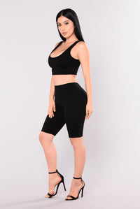 Bondoc Biker Short Set - Black