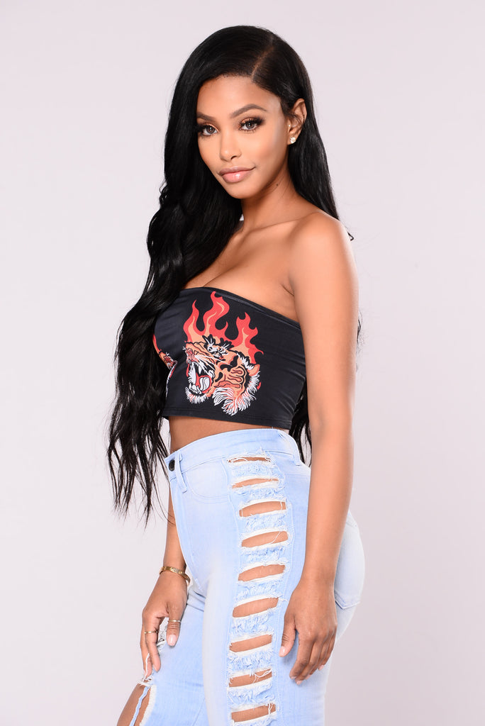 Fireball Tube Top - Black