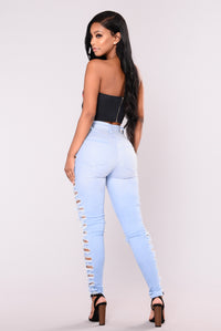 Wesley Distressed Jeans - Light Angle 6