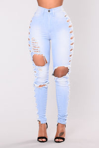 Wesley Distressed Jeans - Light Angle 3