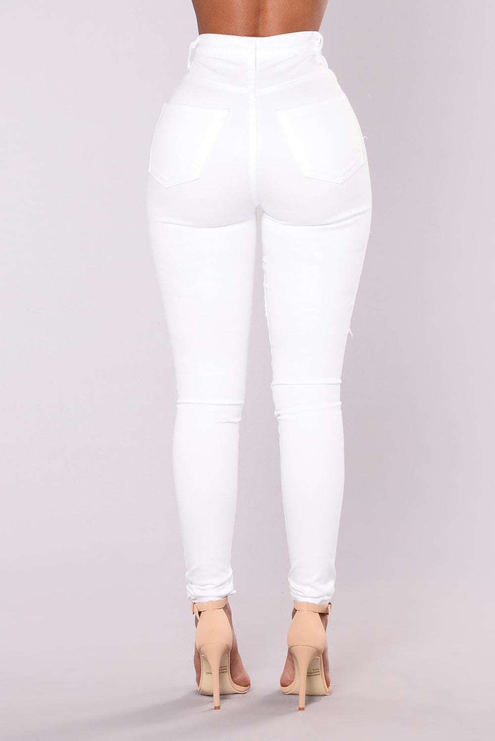 Cambria Distressed Jeans - White