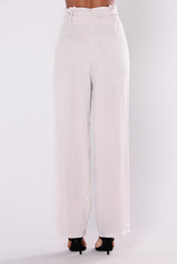 Street Ready High Waist Pants - Taupe
