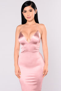 KoKo Satin Dress - Mauve