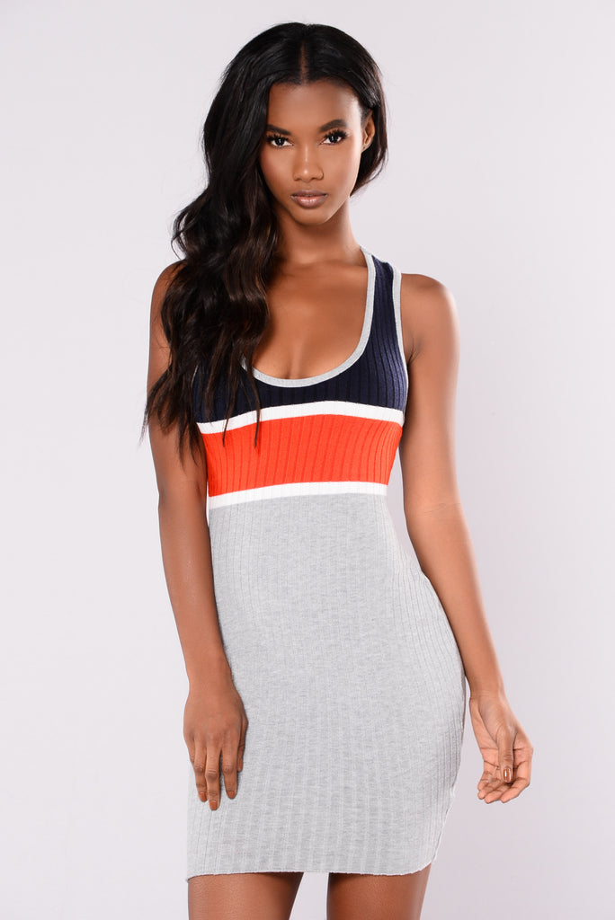 Justice Knit Dress - Heather Grey