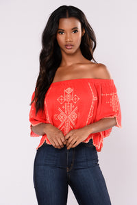 Regina Off The Shoulder - Red