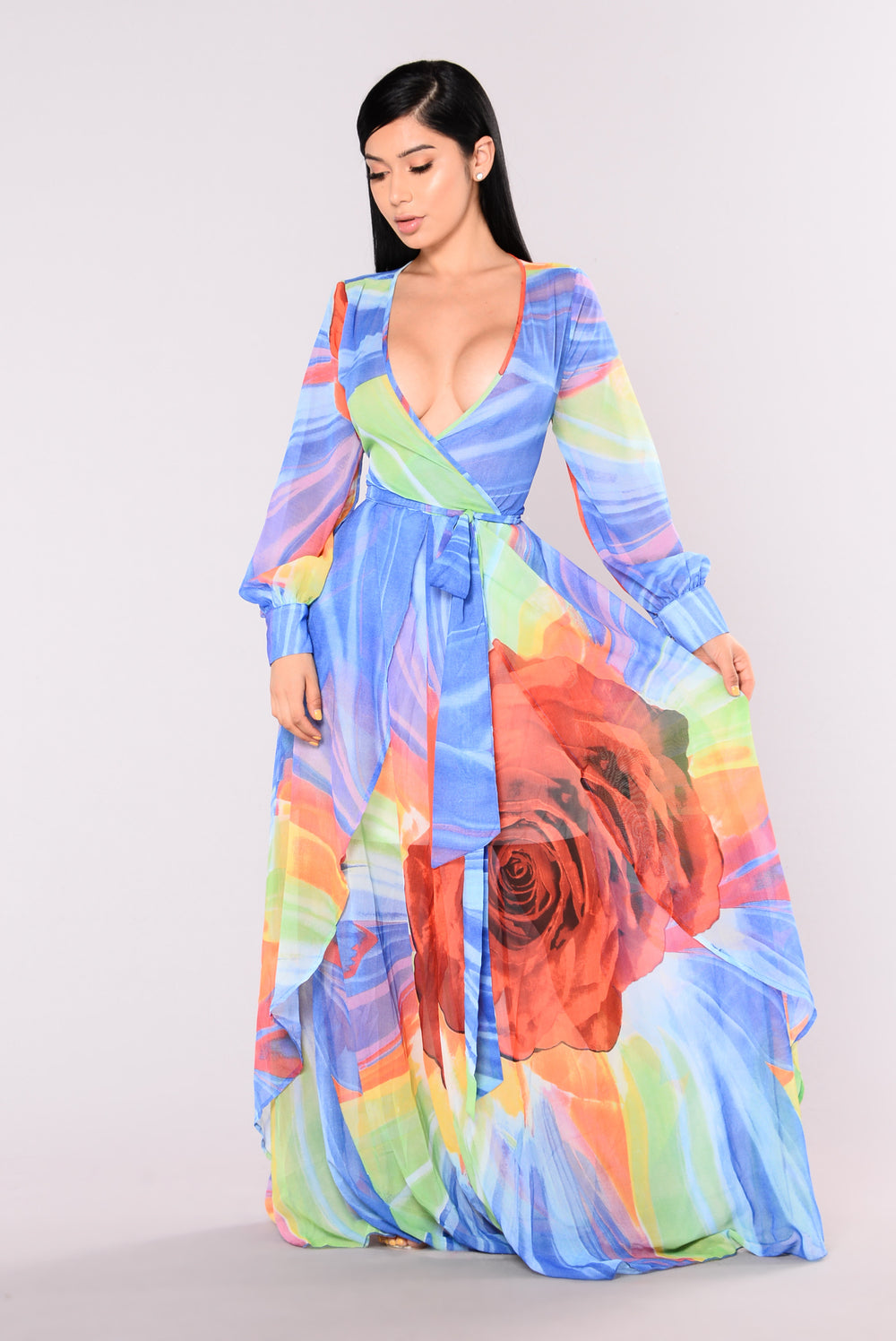 Cloud Nine Maxi Dress - Royal