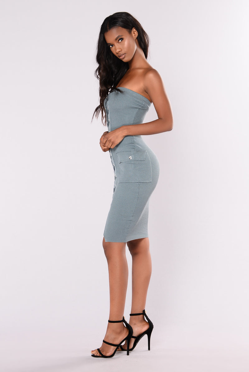 The Best Out Dress - Dusty Teal