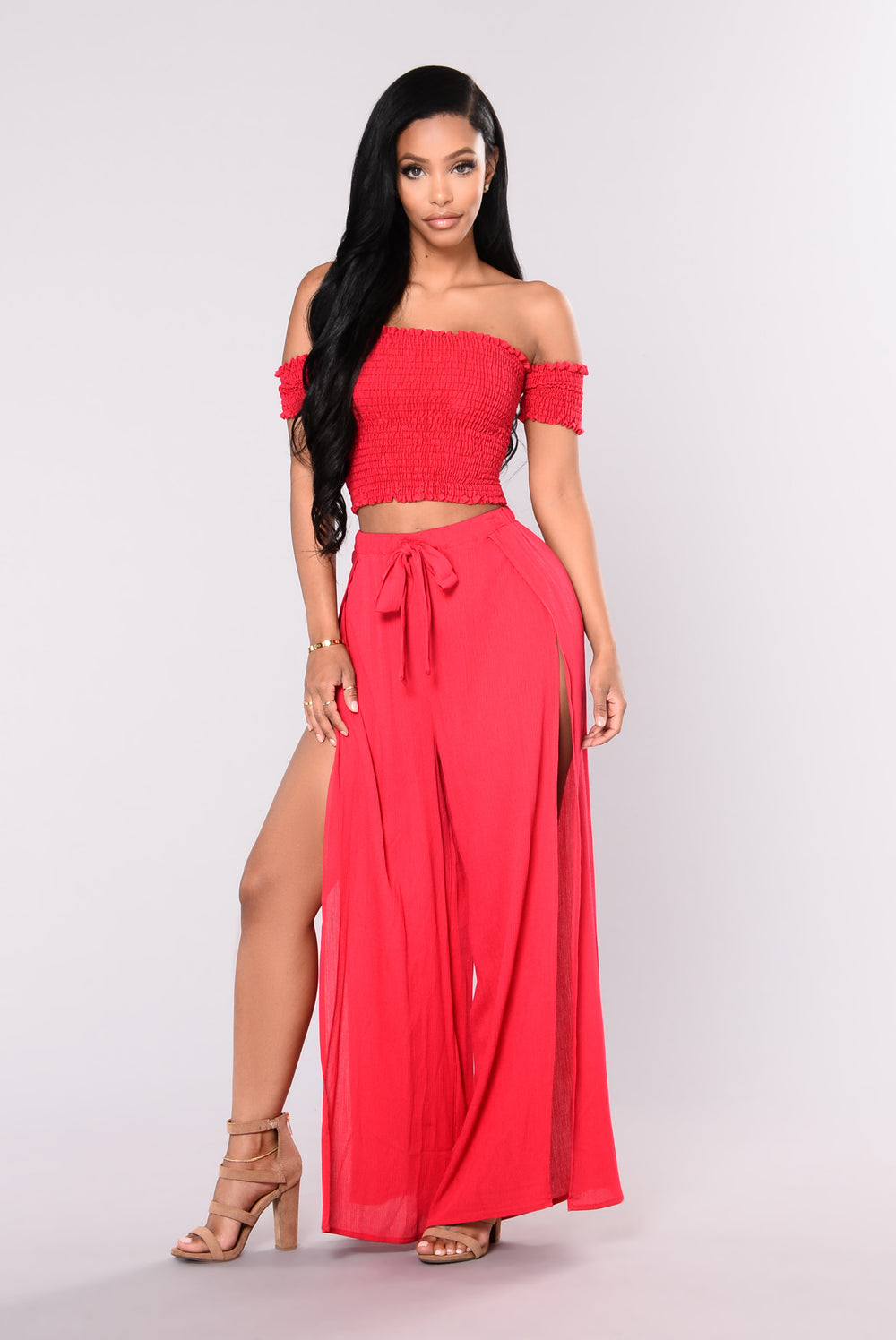 Hally Tube Top - Red