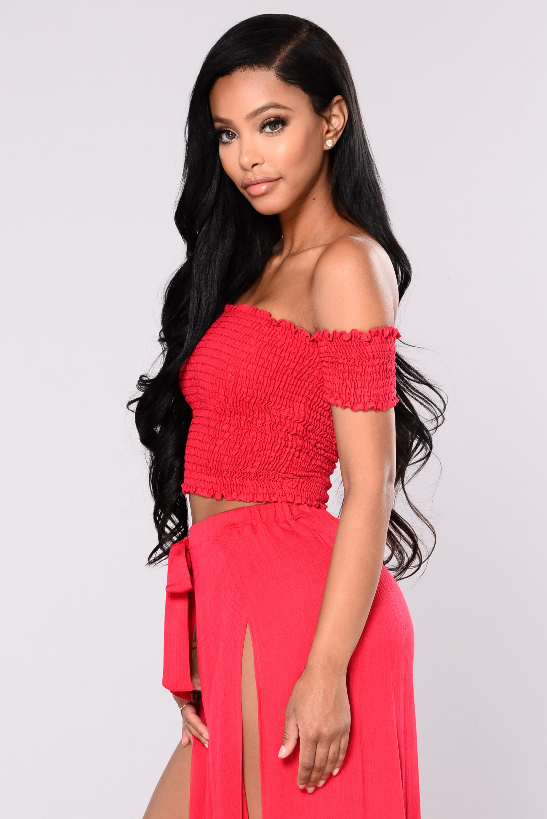 f6a57d82a9 Hally Tube Top - Red