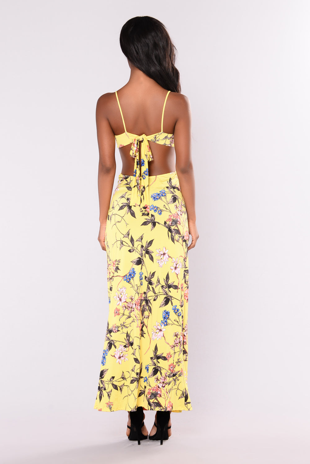 Cici's Maxi Dress - Yellow/Floral