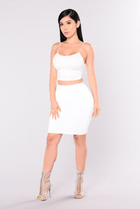 KiKi Cropped Top - Ivory Angle 6