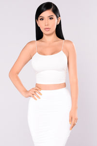 KiKi Cropped Top - Ivory Angle 4