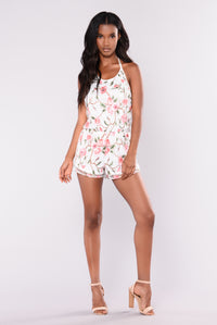 Vines And Climbers Romper - White