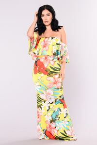 Tropical Lover Dress - Yellow