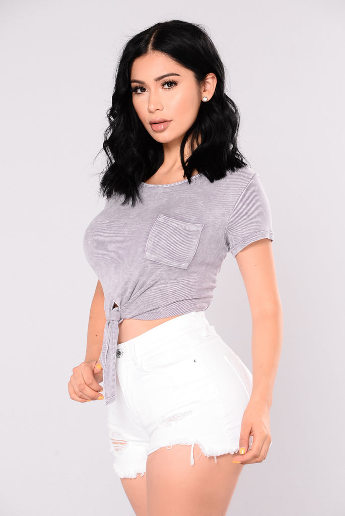 Dinah Crop Top - Lavender
