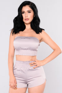 Eunice Satin Set - Mauve