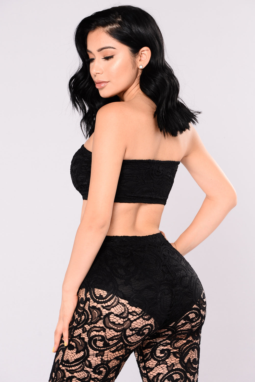 Love To The World Lace Set - Black