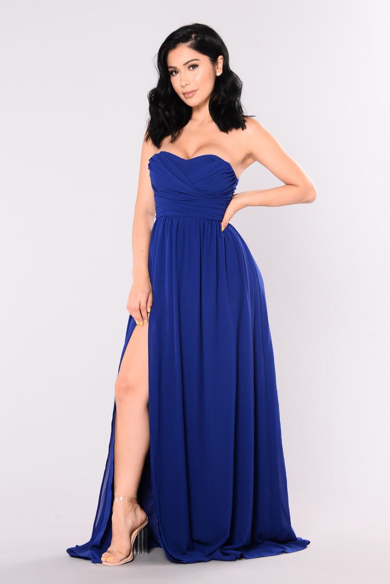 A Night In Florence Maxi Dress - Royal