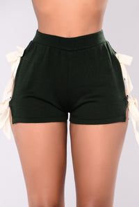 Yoselin Knit Shorts - Hunter Green