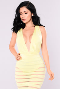Yolanda Mesh Dress - Yellow