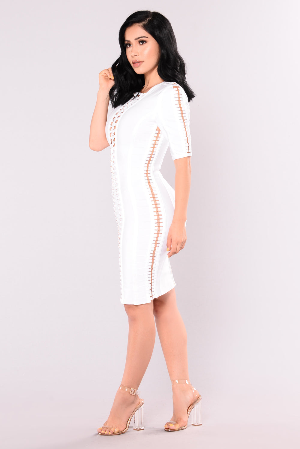 Bad Gal Bandage Dress - White
