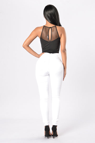 Eyes on You Bodysuit - Black