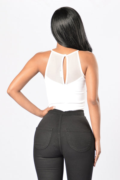 Eyes on You Bodysuit - White