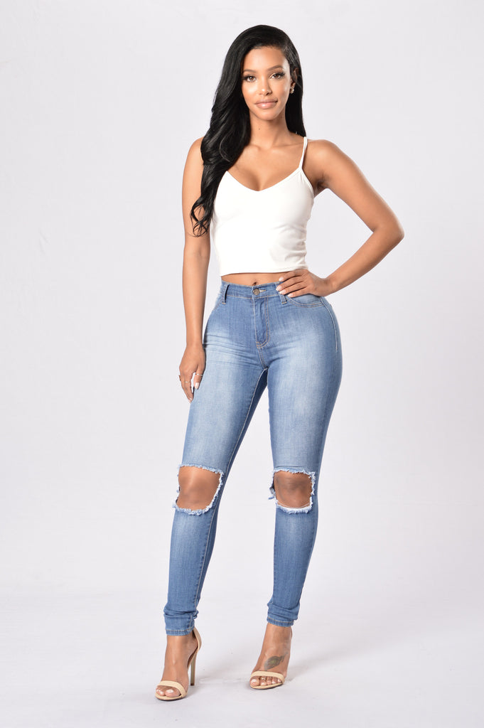 Picture Perfect Jegging - Medium Blue