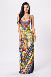 South of The Border Dress - Yellow