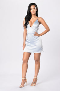 Kitten Dress - Grey Angle 4