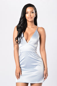 Kitten Dress - Grey Angle 1