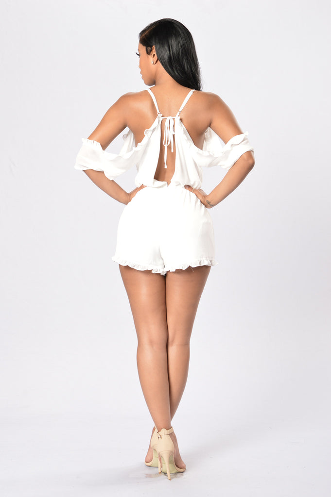Feel the Love Romper - White