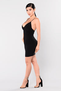 Club View Mini Dress - Black