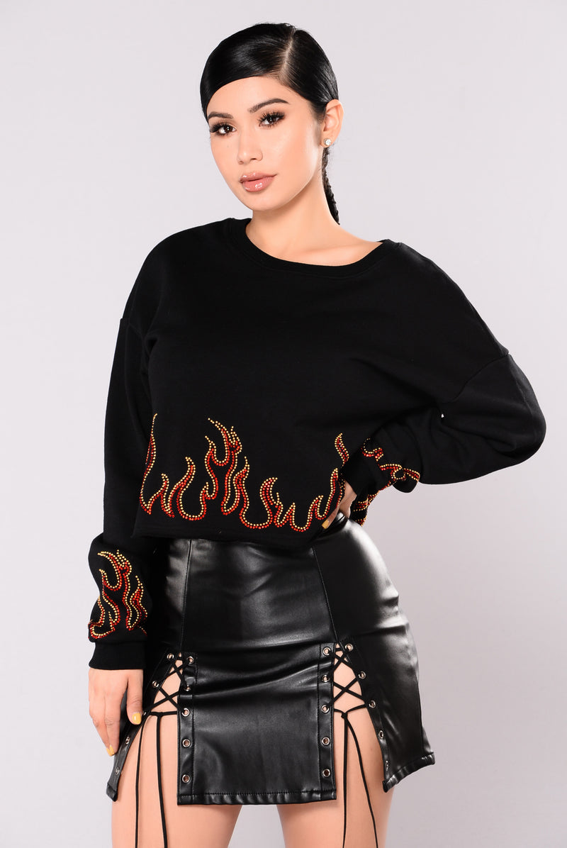 Bring The Heat Top - Black