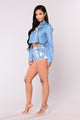 Star Denim Shorts - Light