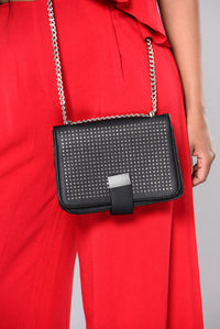 Jocelyn Stud Crossbody - Black
