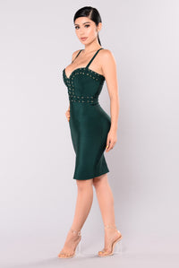 Nightingale Bandage Dress - Hunter Green