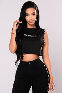 Over It Cropped Tee - Black
