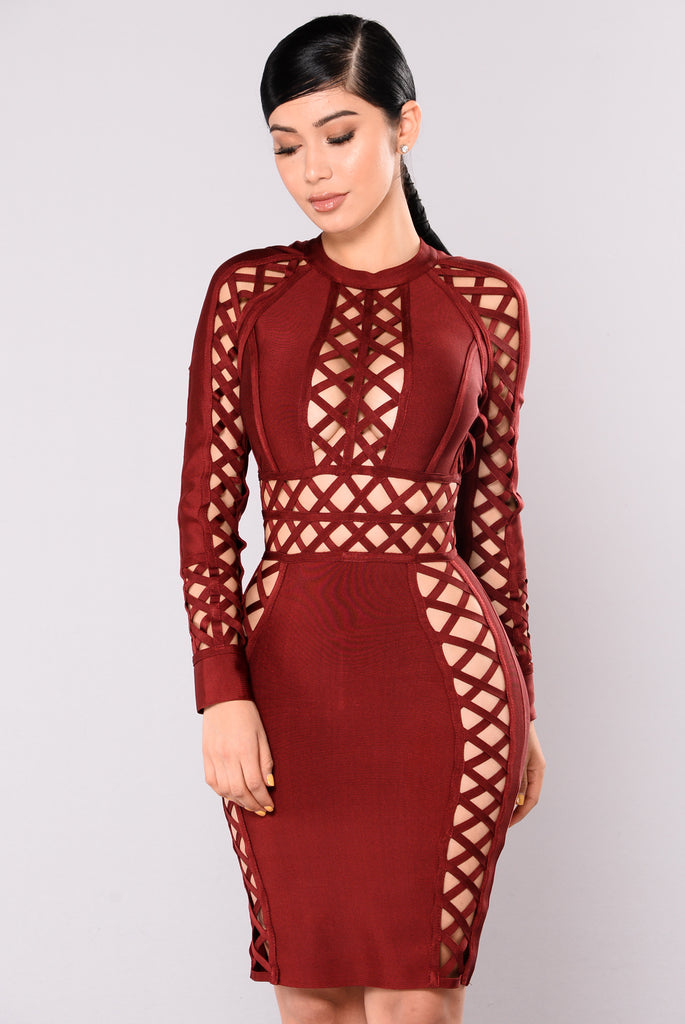 UberChic Dress - Burgundy